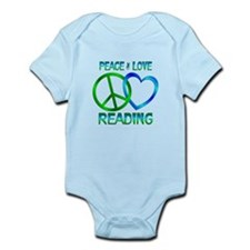Peace Love Reading Infant Bodysuit