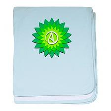 Atheist Flower baby blanket