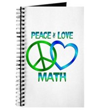Peace Love Math Journal