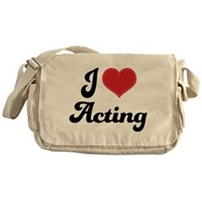 I Love Acting Messenger Bag
