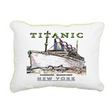 Funny White star line Rectangular Canvas Pillow