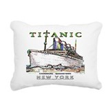 Swimming Rectangular Canvas Pillow