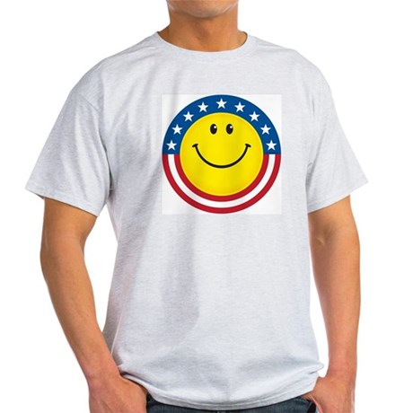 Smile for USA: Ash Grey T-Shirt