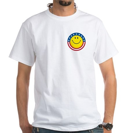 Smile for USA: White T-Shirt