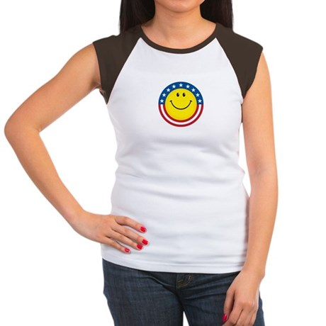 Smile for USA: Women's Cap Sleeve T-Shirt