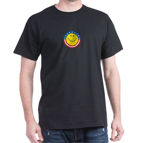 Smile for USA: Black T-Shirt