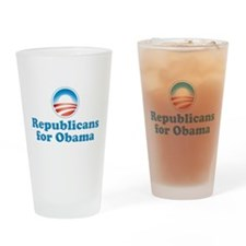 Republicans for Obama Drinking Glass