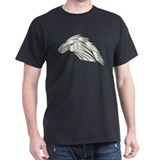 Tribal Horse Art 3 Black T-Shirt