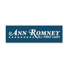Ann Romney For First Lady (Blue) Car Magnet 10 x 3