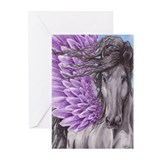 Viole Feathers Greeting Cards (Pk of 10)