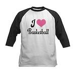 I Love Basketball Kids Baseball Jersey