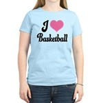 I Love Basketball Women's Light T-Shirt