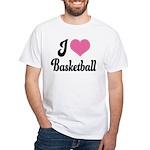 I Love Basketball White T-Shirt