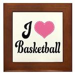 I Love Basketball Framed Tile