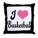 I Love Basketball Throw Pillow