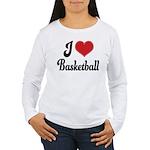 I Love Basketball Women's Long Sleeve T-Shirt