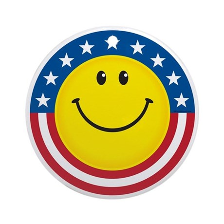Smile for USA Ornament (Round)