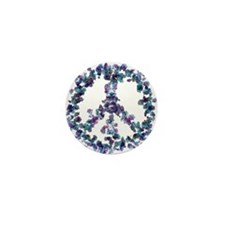 Harmony Flower Peace Mini Button (10 pack)
