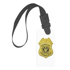 retired law enf officer.png Luggage Tag