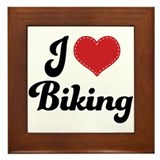 I Love Biking Framed Tile