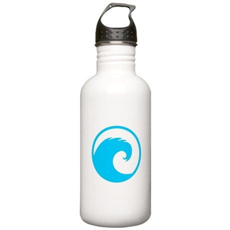 Ocean Wave Design Stainless Water Bottle 1.0L