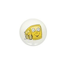 YELLOW HAPPY BUS Mini Button (10 pack)