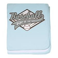 Baseball Respect All baby blanket