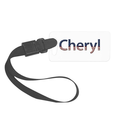 Cheryl Stars and Stripes Small Luggage Tag
