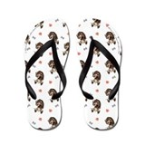 Pointer Bones n Paws White Flip Flops