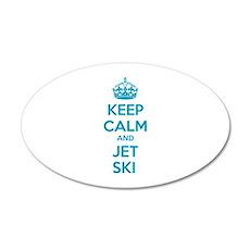 Keep calm and jet ski 38.5 x 24.5 Oval Wall Peel