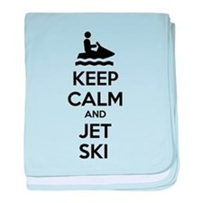 Keep calm and jet ski baby blanket