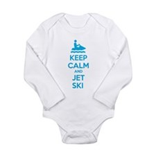 Keep calm and jet ski Long Sleeve Infant Bodysuit