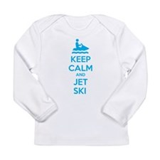 Keep calm and jet ski Long Sleeve Infant T-Shirt