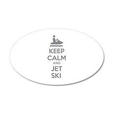 Keep calm and jet ski 22x14 Oval Wall Peel