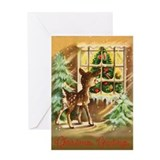 Vintage deer Greeting Card