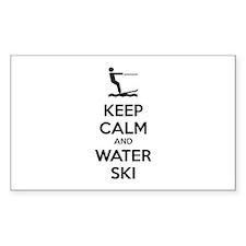 Keep calm and water ski Decal