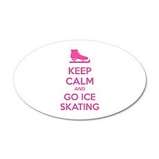 Keep calm and go ice skating 38.5 x 24.5 Oval Wall