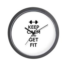 Keep calm and get fit Wall Clock