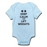 Keep calm and lift weights Onesie