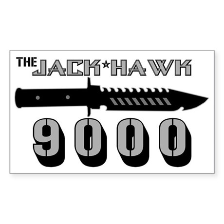 Jack Hawk Rectangle Sticker