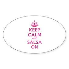 Keep calm and salsa on Decal