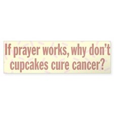 Cupcakes Cure Cancer Bumper Sticker