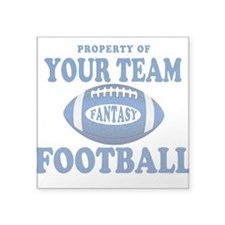 Property of Fantasy Your Team Blue Square Sticker