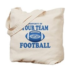 Property of Fantasy Your Team Blue Tote Bag