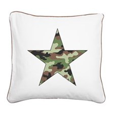 Camouflage Star Square Canvas Pillow