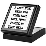 Voice Pause Keepsake Box