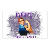 Fight Like a Girl (Rosie) Stickers