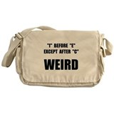 Weird Spelling Messenger Bag