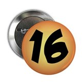 16th Birthday Button for Guys