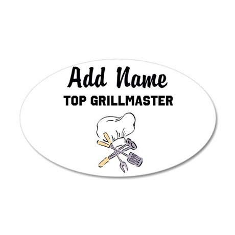 GRILLMASTER 20x12 Oval Wall Decal